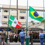 Solenidade em comemoração ao Dia da Bandeira no Calçadão