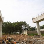 Viaduto de acesso ao Miguel Costa  será entregue no segundo semestre